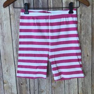 Hanna Andersson pink stripe shirt johns pajamas 12